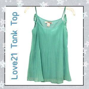 Love21 Jade Green Tank Top